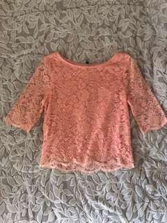 Forever New  pink lace top