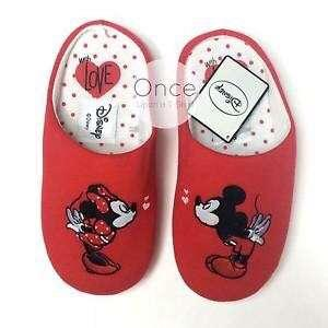 Primark Disney Mickey & Minnie Mouse Kiss Home Slippers