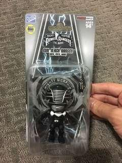 Might Morphin Power Rangers Evil Black Ranger (with putty head) action vinyls