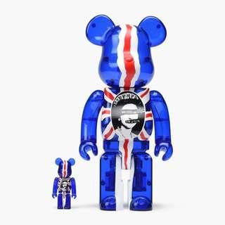 Medicom Toy 100% 400% God Save The Queen Bearbrick