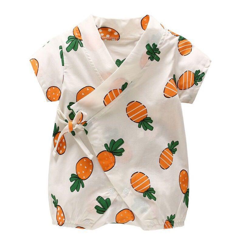 cad2f924eee 🆕 Pineapple Baby Kimono Romper
