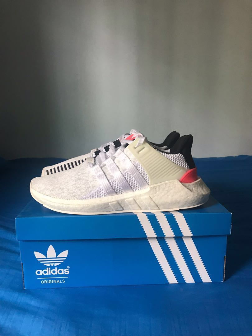 the best attitude b0fc6 75d72 Adidas EQT Support 9317 WhiteCore BlackTurbo Pink US9.5, Mens Fashion,  Footwear, Sneakers on Carousell