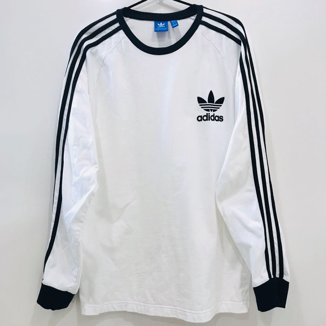 9c54742a Adidas} Long Sleeve Trefoil T Shirt, Women's Fashion, Clothes, Tops ...