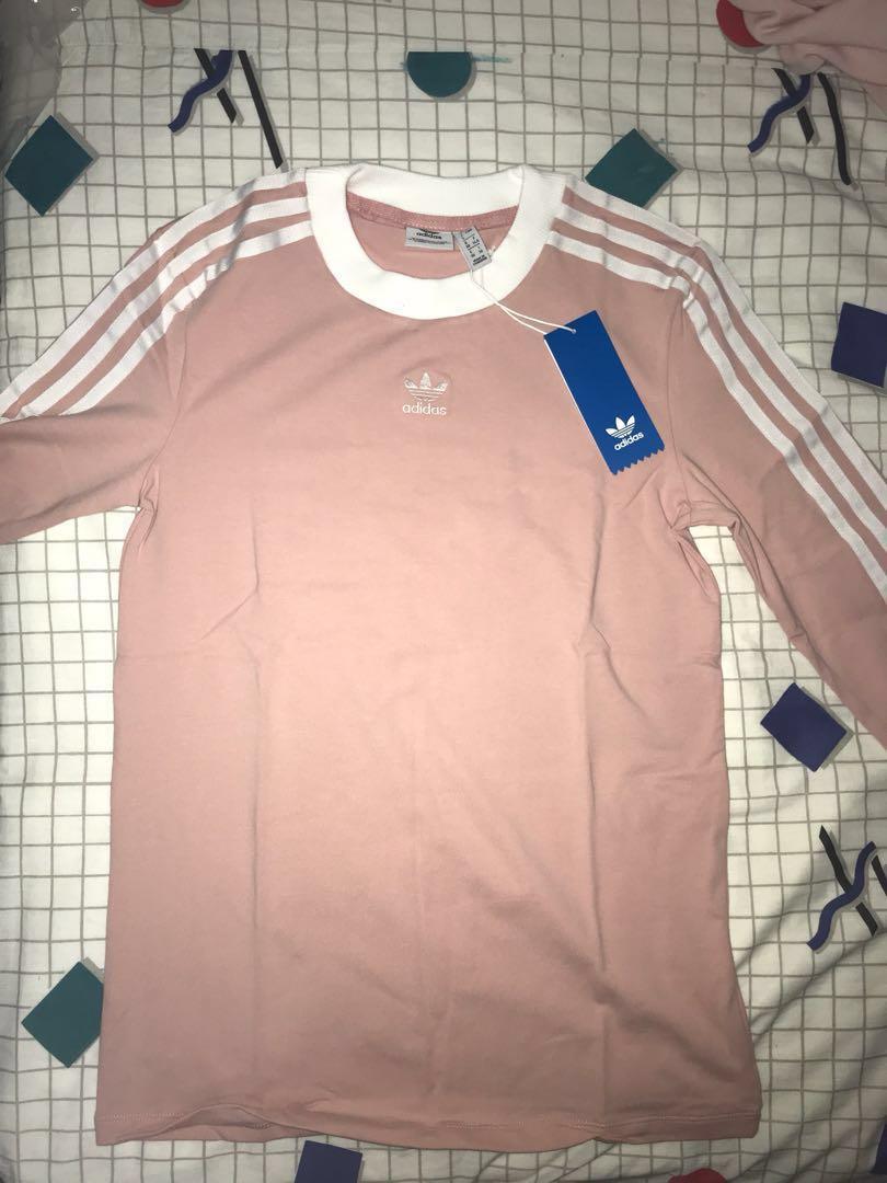 ae8ca6d4e60 adidas originals three stripes long sleeve shirt baby pink, Women's ...