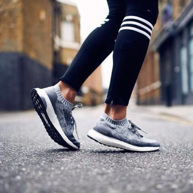 c85750cf1 ... low cost adidas ultra boost uncaged grey solid grey womens fashion  shoes on carousell babf5 0abd4