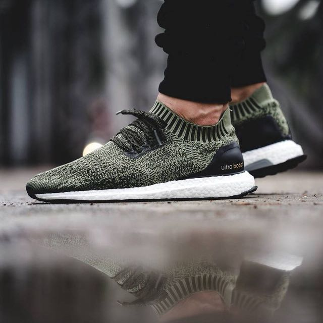 new style 7f74c d5f8d Adidas Ultra Boost Uncaged  Tech Earth Olive , Men s Fashion, Footwear on  Carousell