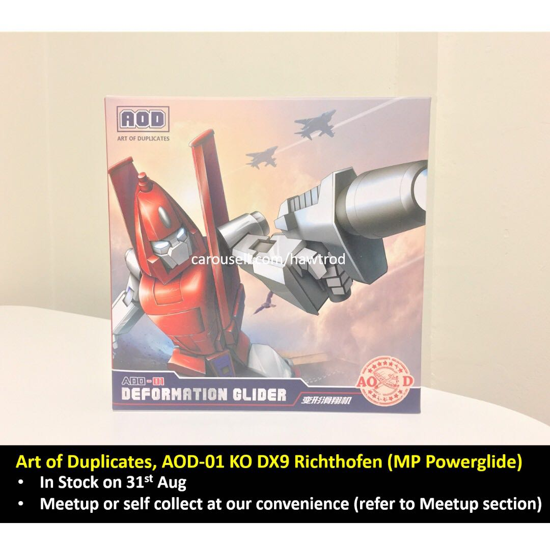 Transformers G1 Toys AOD-01 Powerglide MP Scale Richthofen In stock