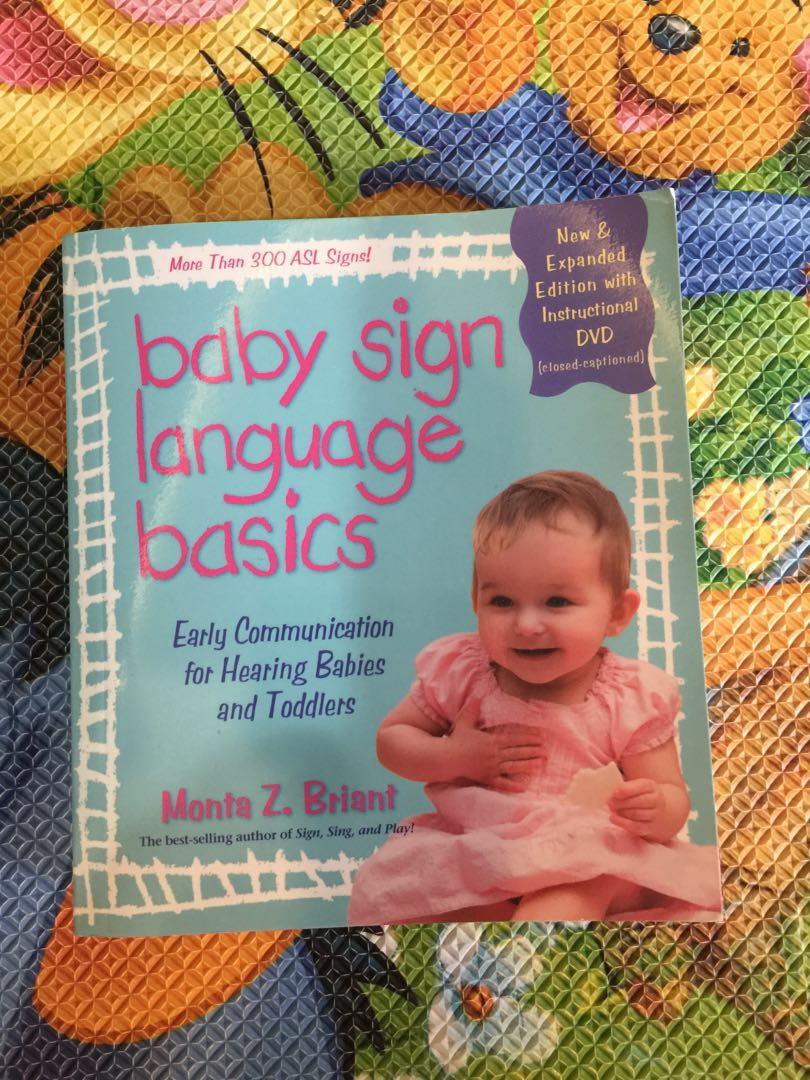 Baby Sign Language Basics Book Babies Kids Toys Walkers On