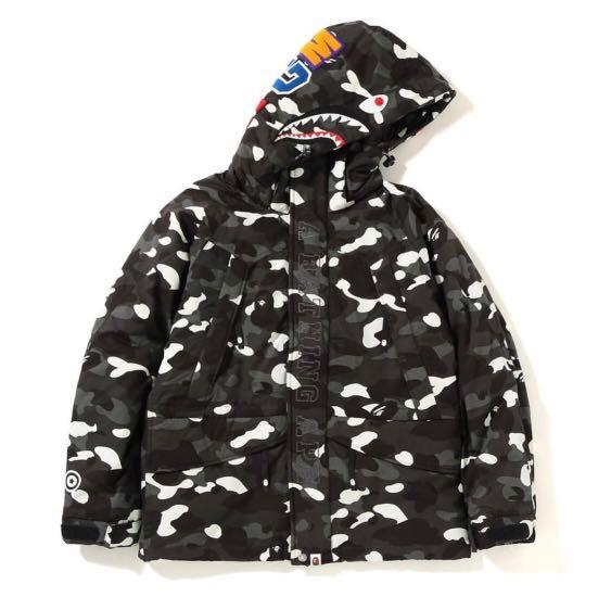 ee73d6cdaaa5 Bape City Camo Shark Snowboard Down Jacket