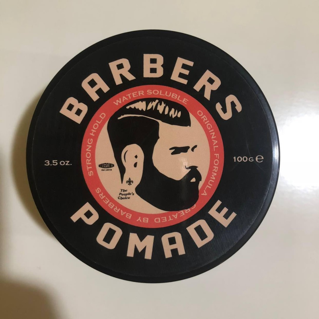 Barbers Pomade Strong Hold Water Based 100g, Health & Beauty, Hair Care on Carousell