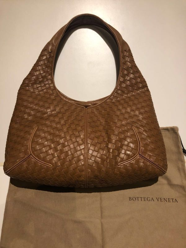 61eb802e8c2d Bottega Veneta Hobo Lambskin light brown