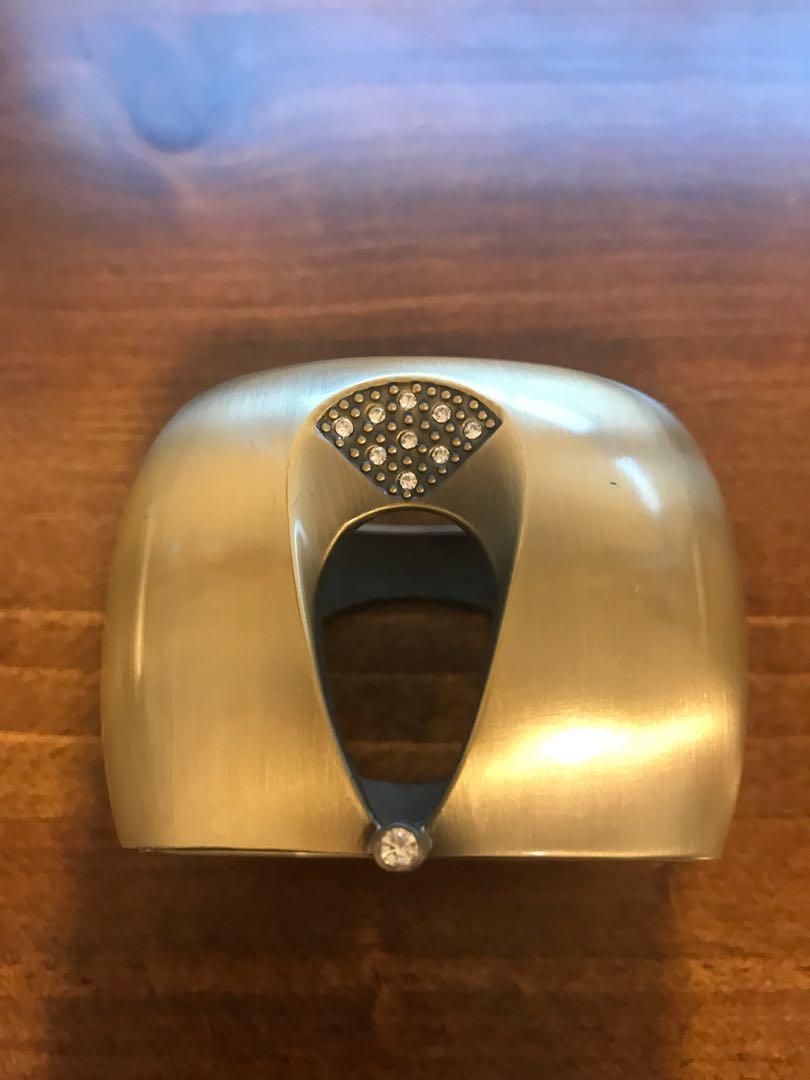 Bracelet cuff stunning handmade with zirconia stunning piece