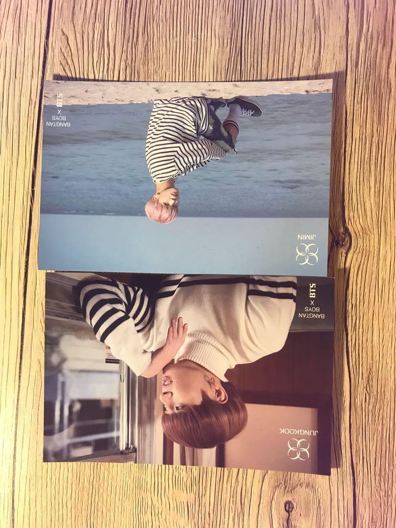 BTS Jungkook Jimin Spring Day Concept Photo Postcard Photocards