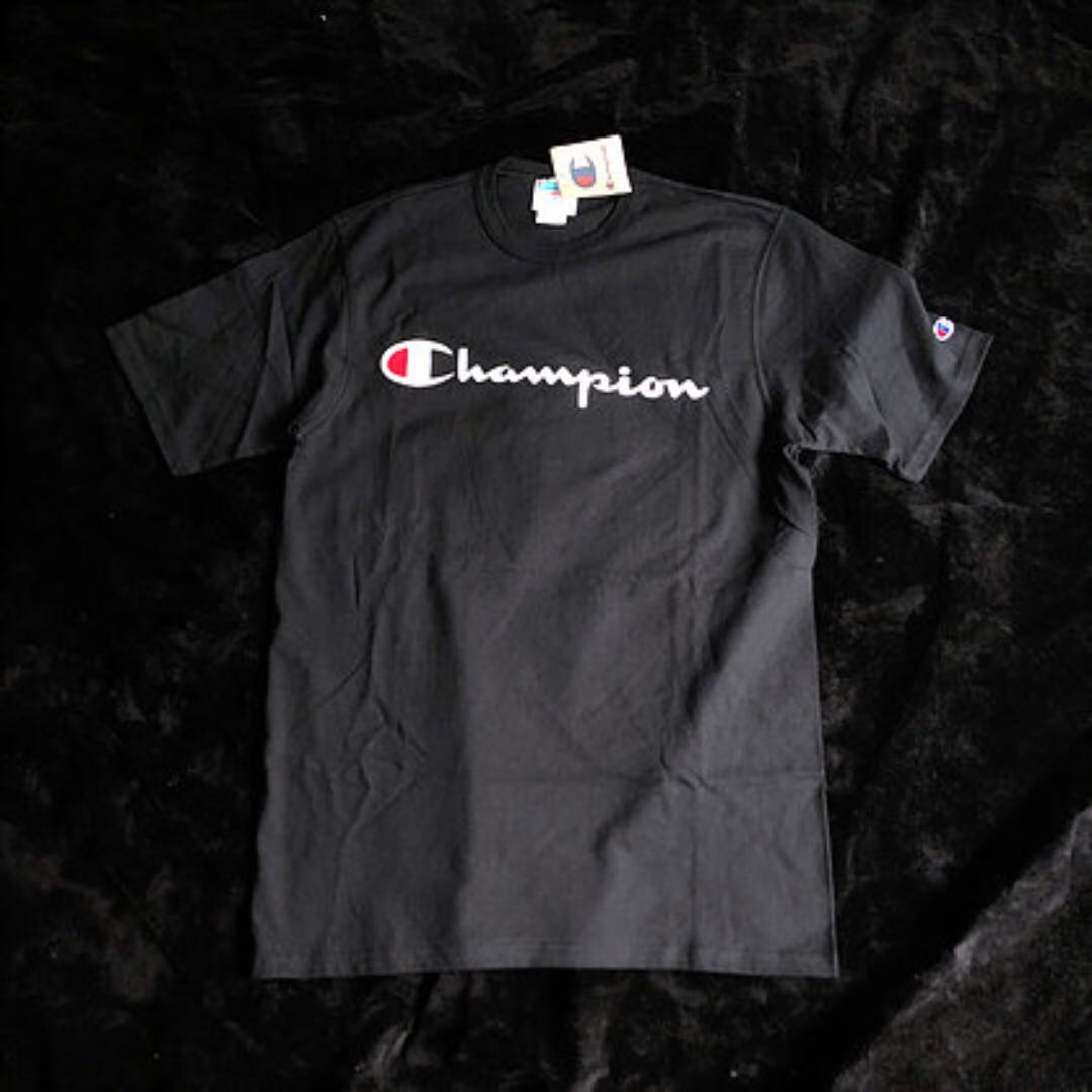 01dcd337 Champion Script Logo Heritage Tee, Men's Fashion, Clothes, Tops on ...