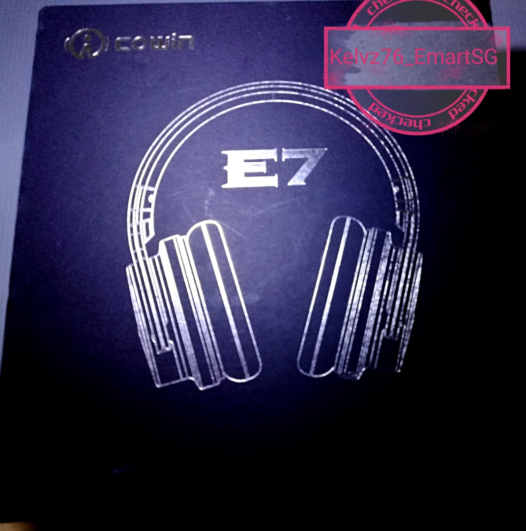 Cowin E7 Bluetooth Headphones with Over-Ear Cushion Cups & ANC