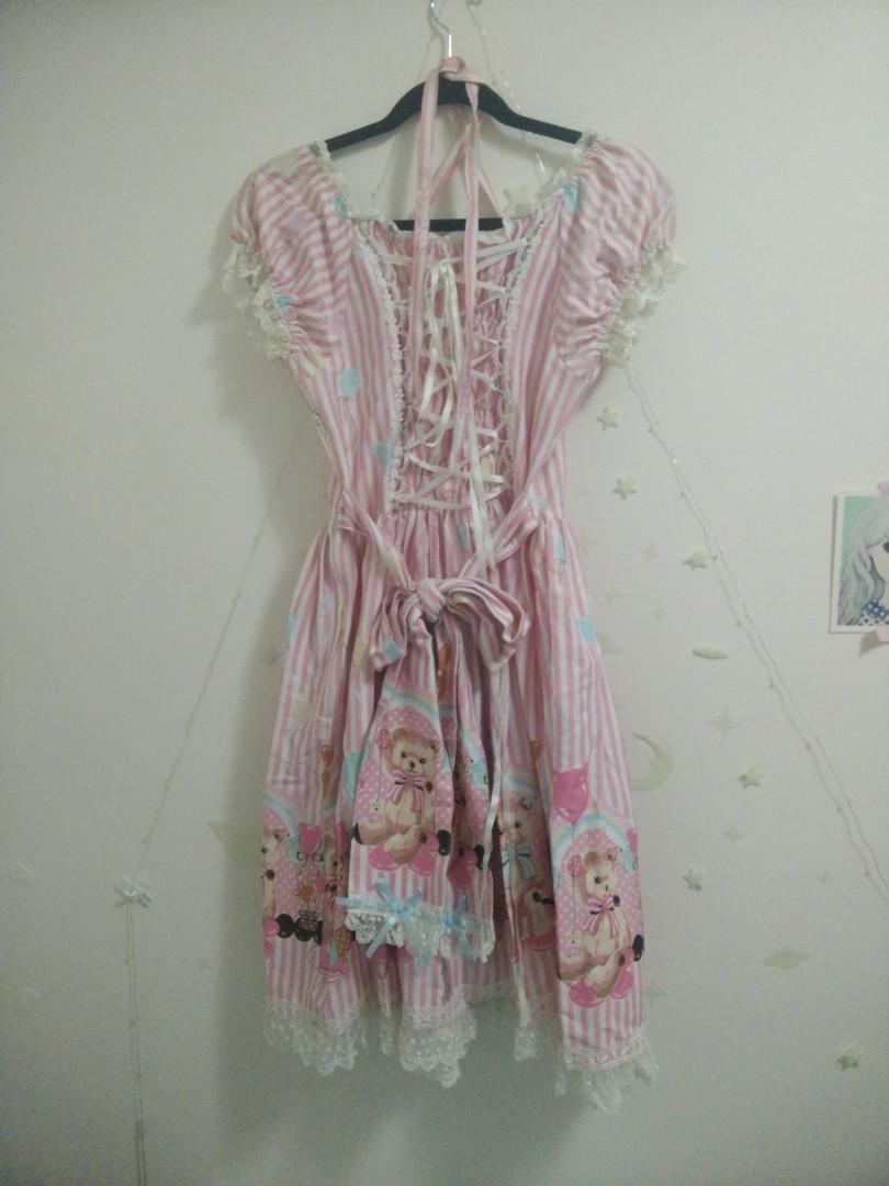 DAMAGED Bodyline Balloon Bears OP Pink  SIZE M