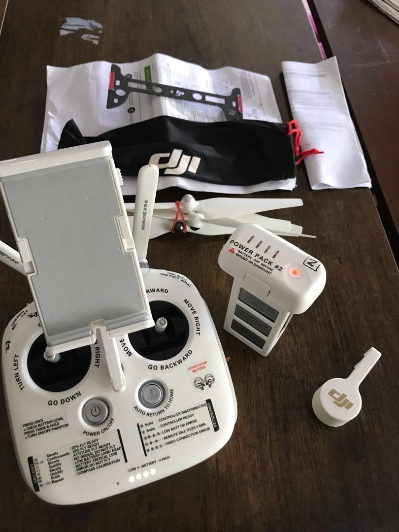 DJI Phantom 3 advanced controller GL300A model (specially labelled) and  accessories sunshade gimbal guard (no drone) - clearance make me an offer