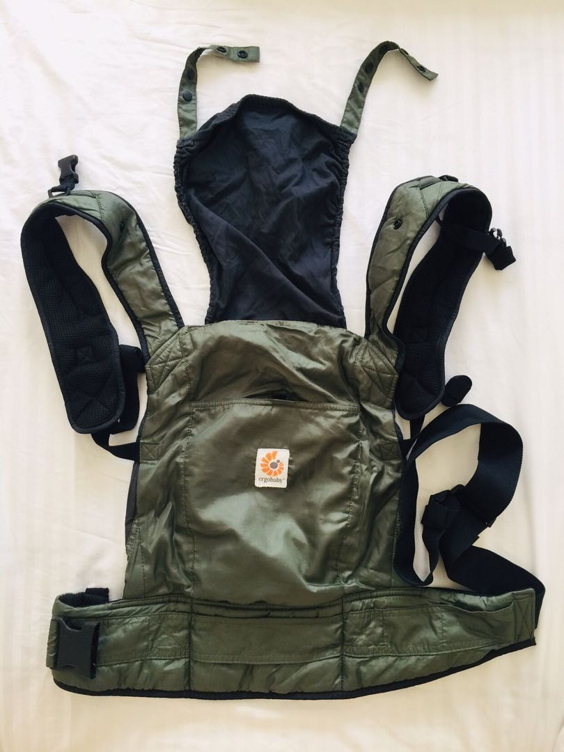 a9ff5647e5f Ergobaby STOWAWAY baby carrier (army green)