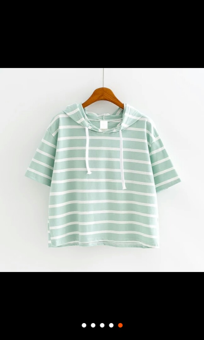 8c356b0ab405b7 Green Striped Crop Top, Women's Fashion, Clothes, Tops on Carousell