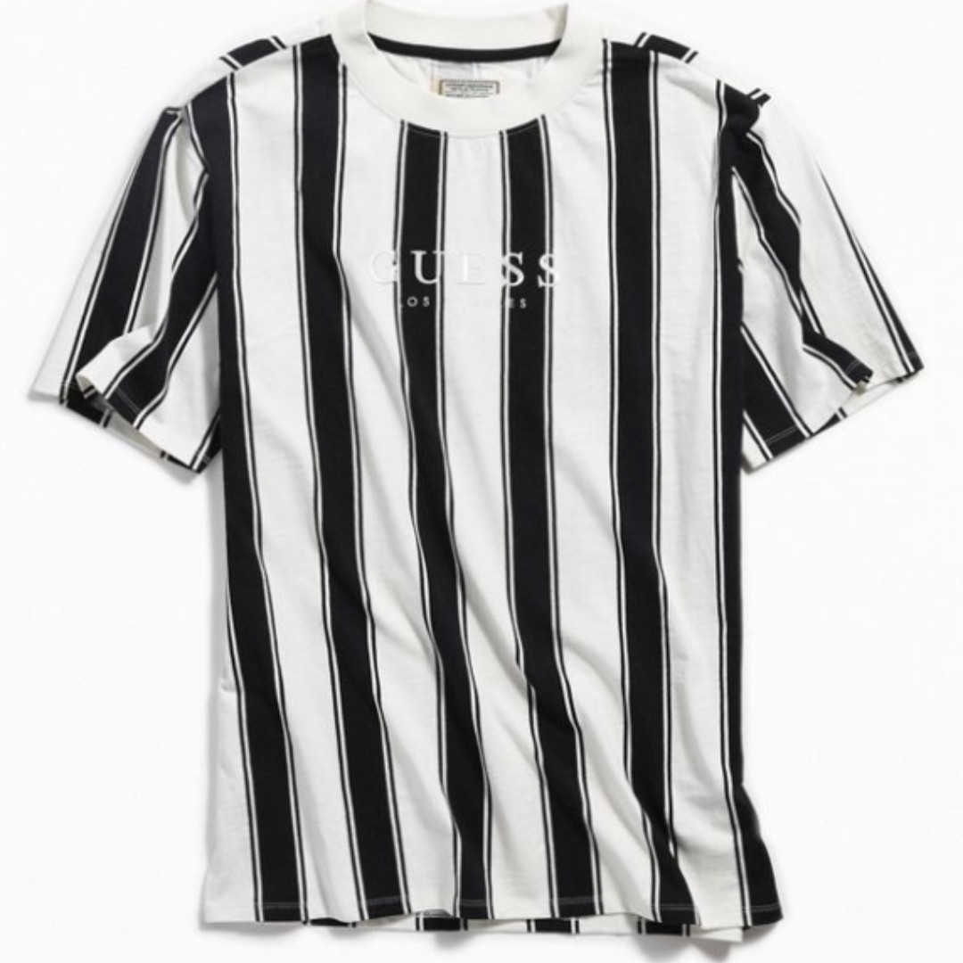 662a22d9ae GUESS Walden Striped Tee - Black & White, Men's Fashion, Clothes, Tops on  Carousell