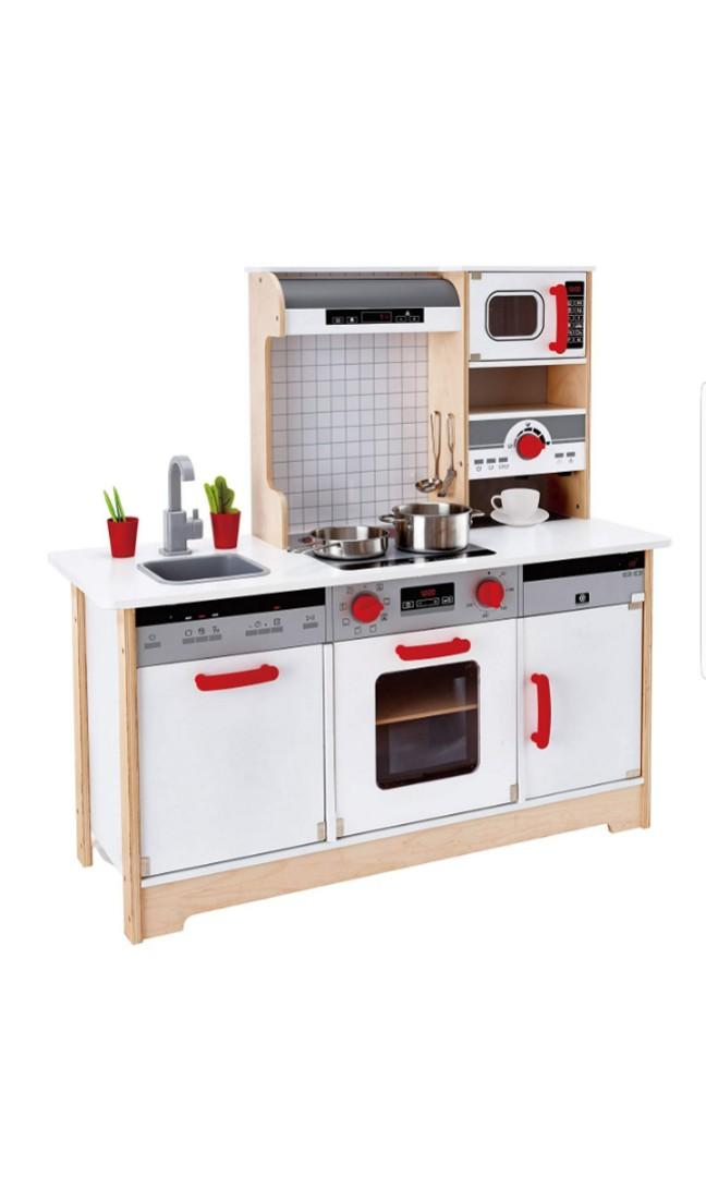 Hape Kids All In 1 Wooden Play Kitchen With Accessories Ultimate