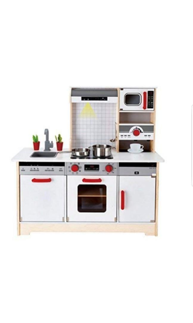 Hape Kids All In 1 Wooden Play Kitchen With Accessories