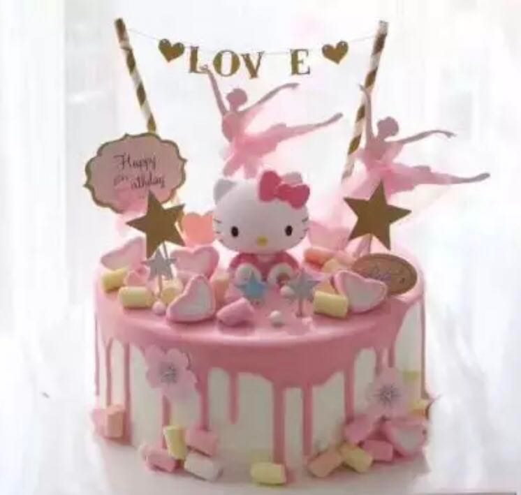 Hello Kitty Cake Topper Figurine Toy Cupcake Decoration Toppers