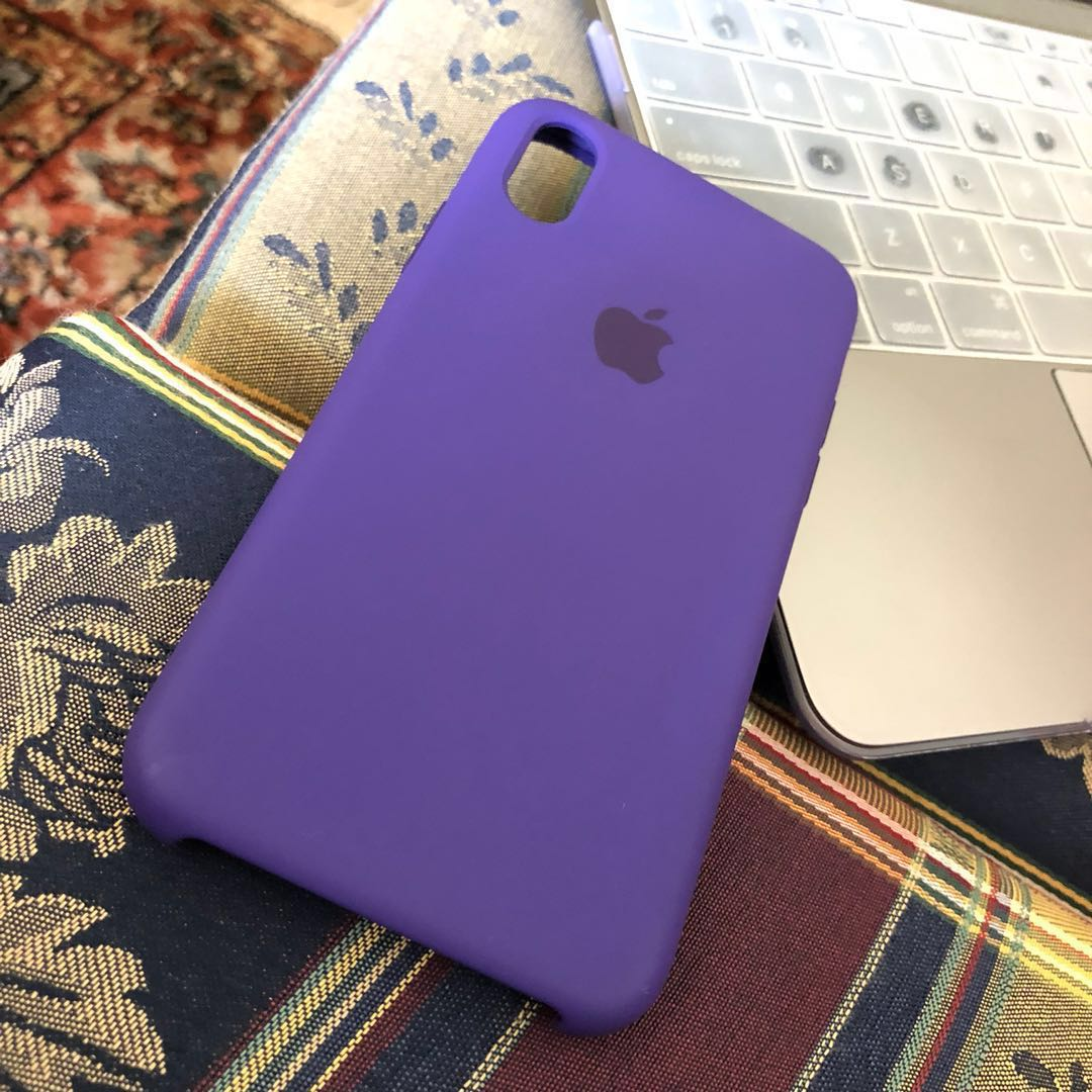 new product e5426 61140 iPhone X Apple Silicon case (ULTRA VIOLET)