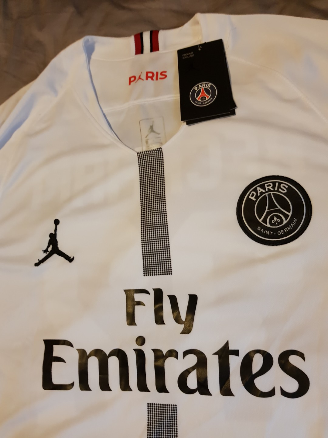 pretty nice a9aac 28601 Jordan X Paris Saint-Germain 18 19 Champions League Away Kit, Sports,  Sports Apparel on Carousell