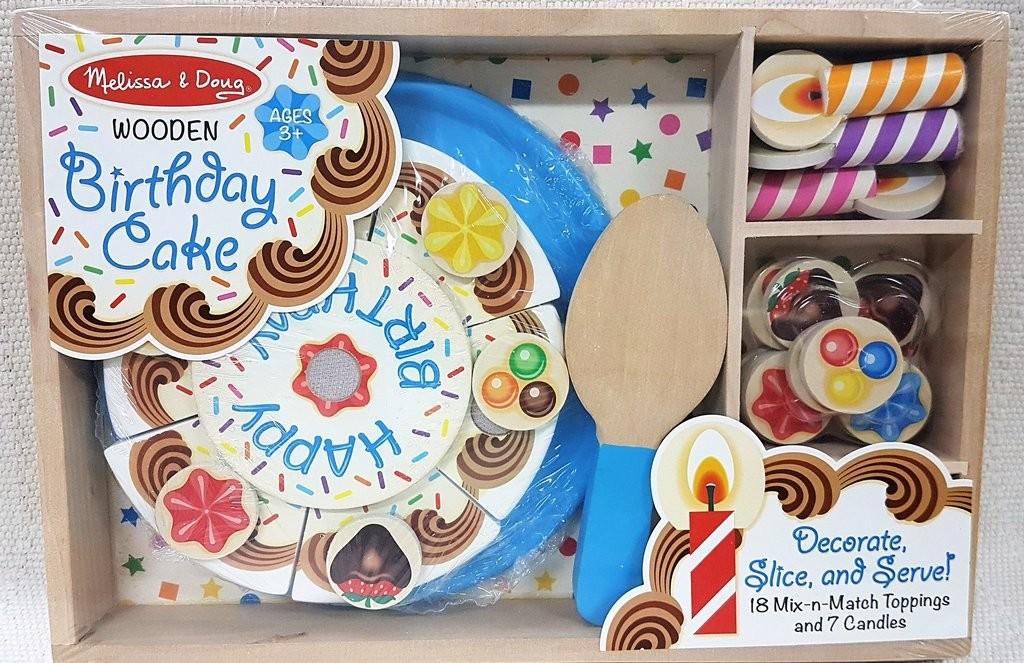 MELISSA DOUG WOODEN BIRTHDAY CAKE
