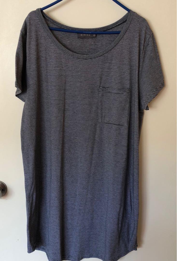 mirrou tee shirt dress