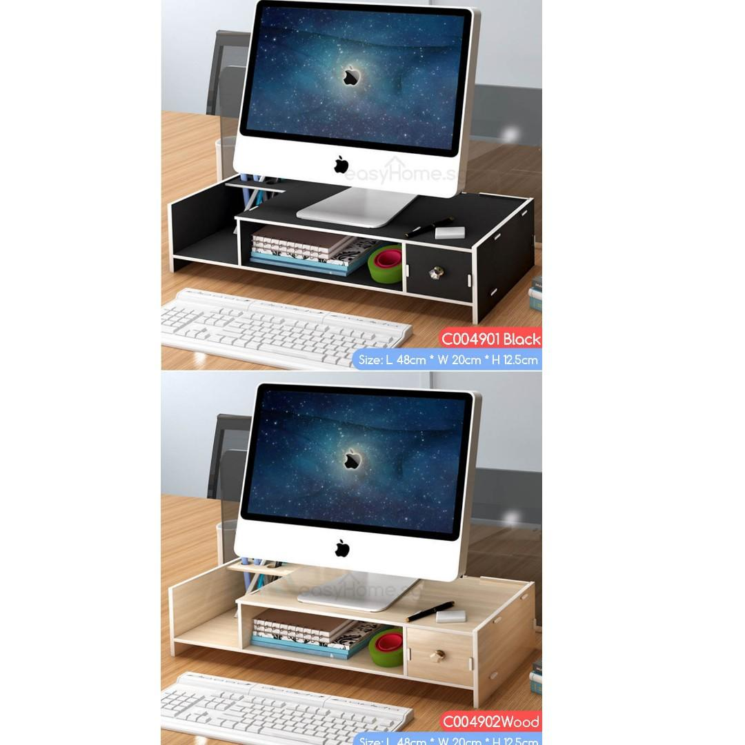 Monitor Stand C004901-C004904 - Desktop Office Organizer Storage Shelf Ergonomic