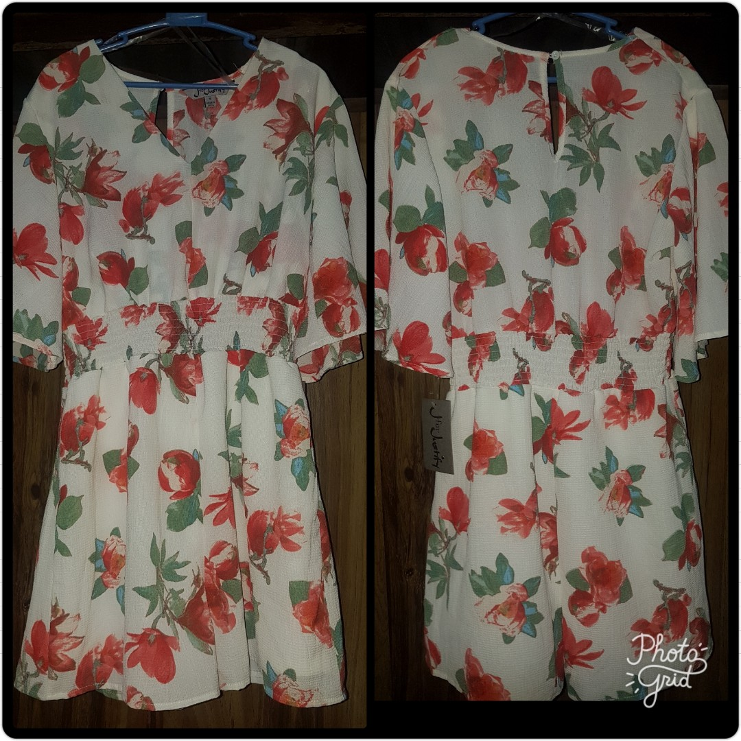 fd893cdc6bad Imported w  tag - Floral V-neck Romper