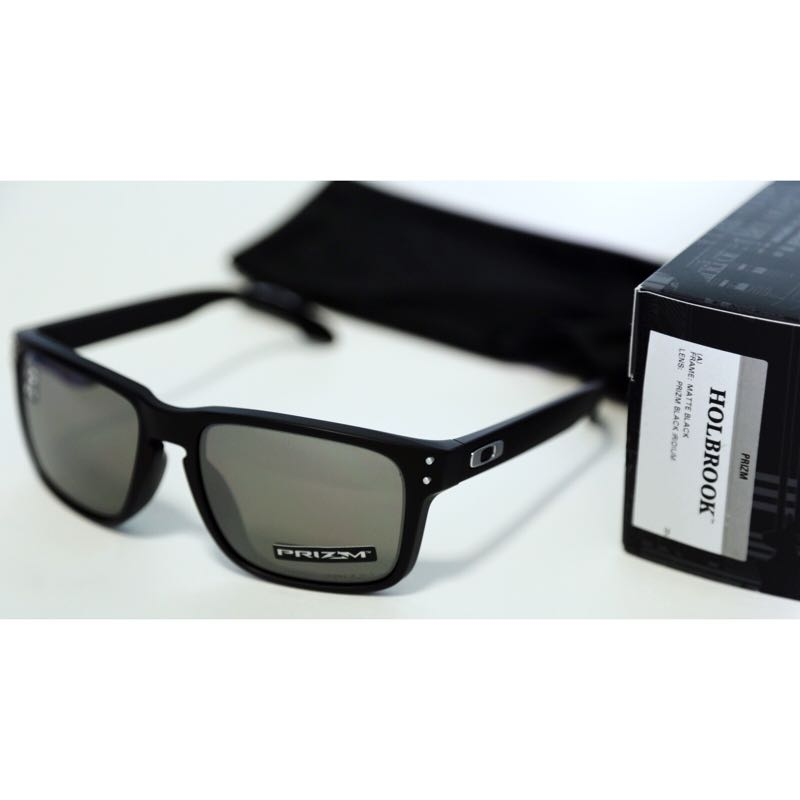 b10df71d56 australia new oakley holbrook matte black w prizm black iridium lens asia  fit mens fashion accessories