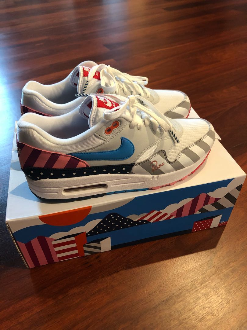 dc7d0a2d42 Nike Air Max 1 Parra US9, Men's Fashion, Footwear, Sneakers on Carousell