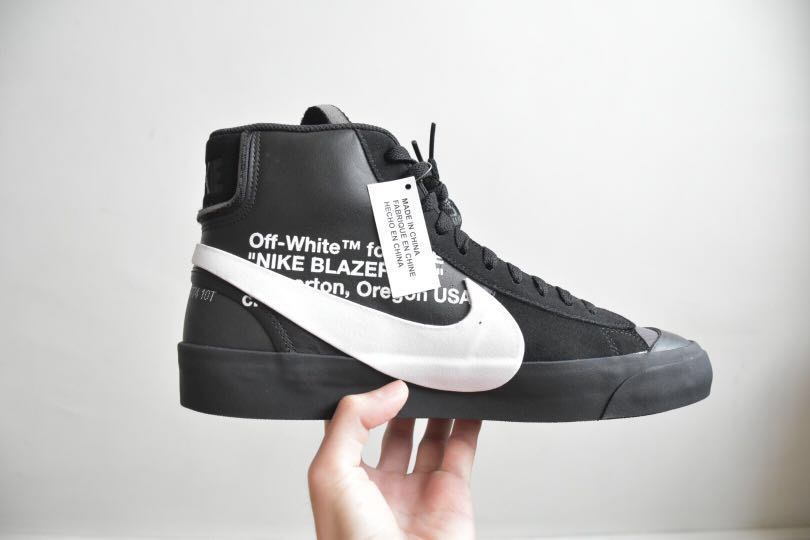 outlet store bb3e9 d6e44 Off White Nike Blazer Mid Grim Reaper, Men s Fashion, Footwear, Sneakers on  Carousell