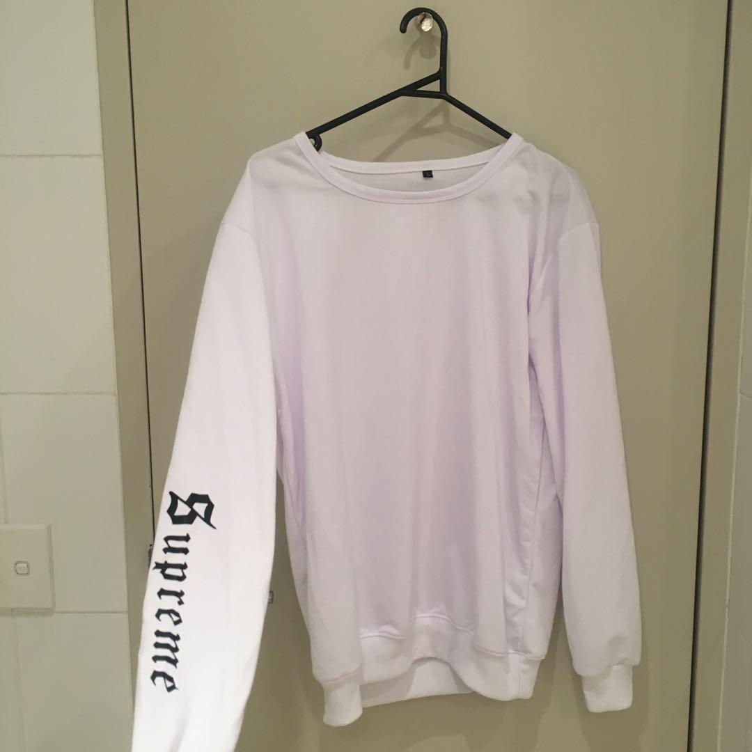oversized white jumper