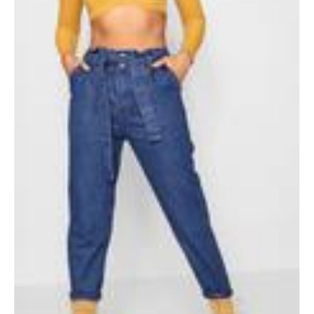 Paperbag Waist Mom Jeans