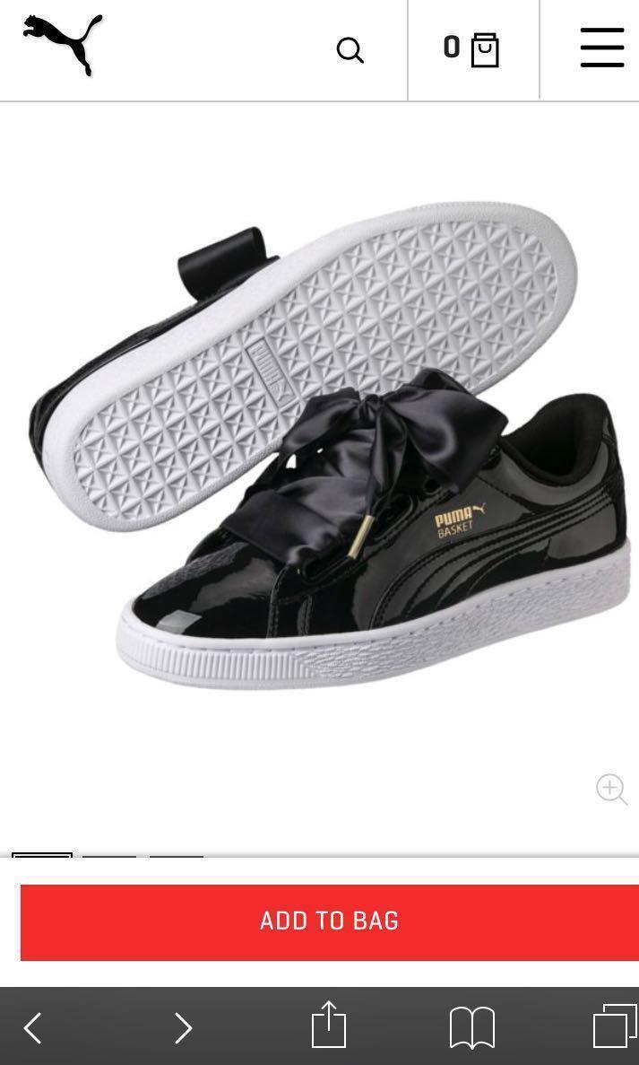 buy online 588ad ef52b Puma Basket Heart Patent Leather Black