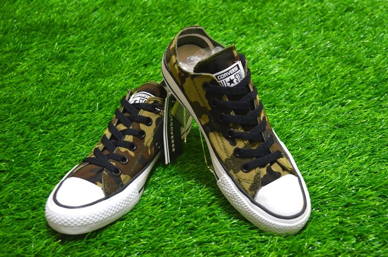 939aedeacd66 Sepatu Converse All Star Army Green Low