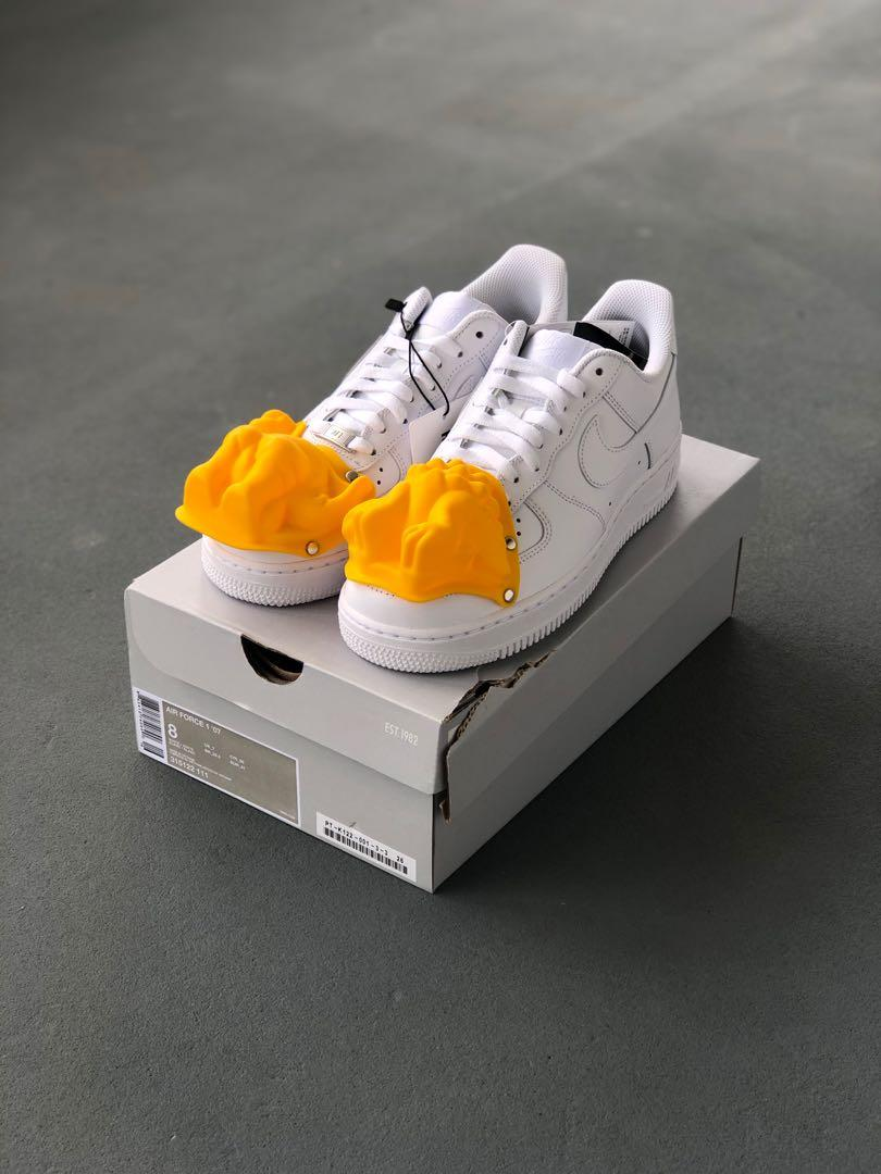new style d5b1f b49a9 US8 Comme Des Garcons Homme Plus Nike Air Force 1 Yellow ...