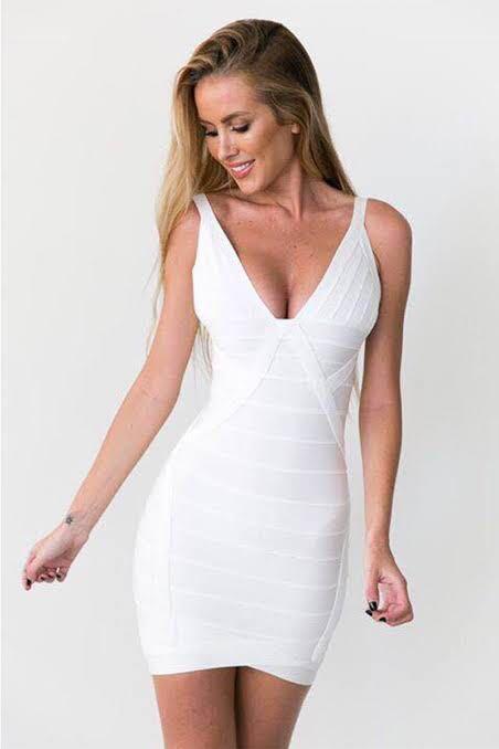 White Bandage Dress Size XS/AU6