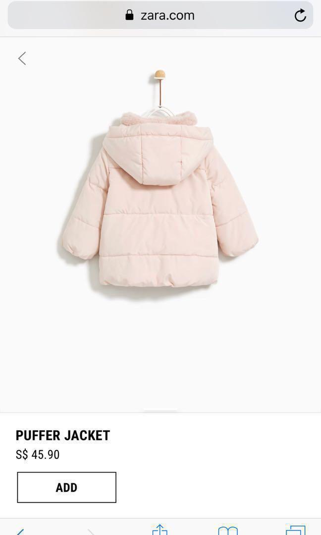 0cec7fdf Zara (3-4 yrs)baby girl puffer winter jacket, Babies & Kids, Girls'  Apparel, 4 to 7 Years on Carousell