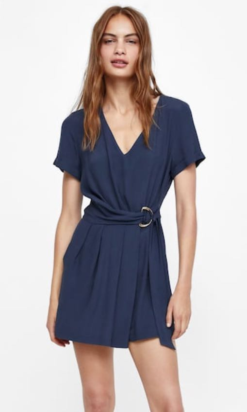 dfe5466f65f7 Zara short Jumpsuit with D ring buckle