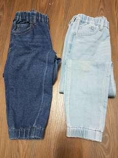 🚚 UNIQLO牛仔縮口褲140cm(一件100)