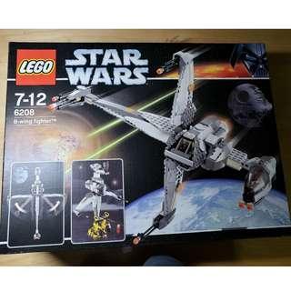 二手 Lego 6208 Star Wars 星戰系列 B-wing Fighter (齊件、件95%新淨、有盒、有說明書)