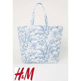H&M Canvas Shopper Tote Bag