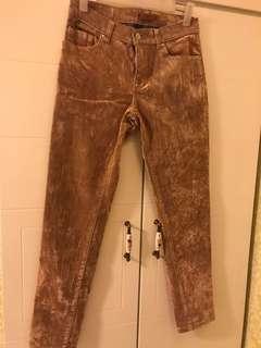for all 7 mankind 品牌 啡色絨貼身牛仔褲 適合秋冬季節穿著