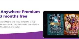 MyRepublic broadband Exclusive Deal: Free TVB Anywhere Premium subscription for 24 months