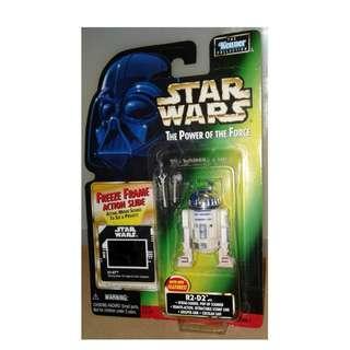 絕版 1997年 Kenner 星球大戰 Star Wars Power of the Force R2-D2 with Freeze Frame Action Slide 1款